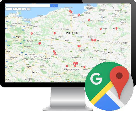 Lokalizacja klientów z OptimaSales w Google Maps