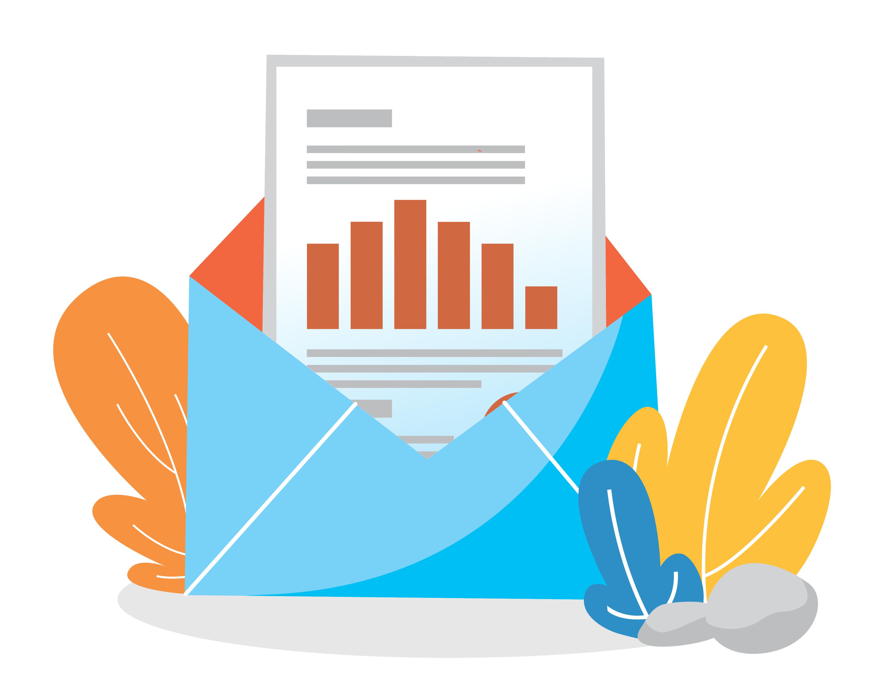 spersonalizowany wykres w e-mail
